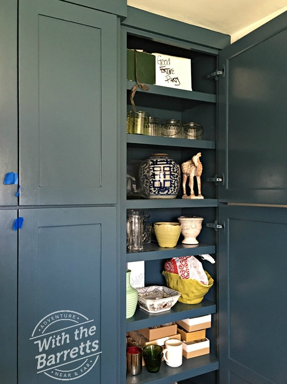 Filled cabinets