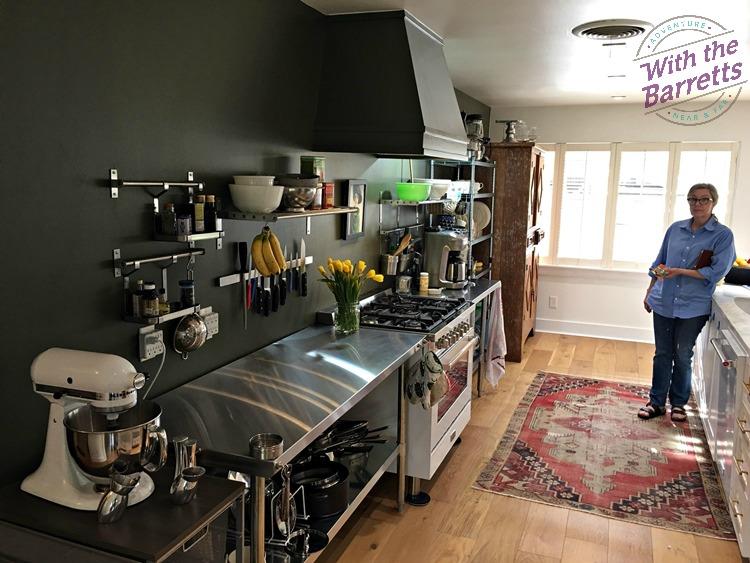 Debra in unfitted kitchen