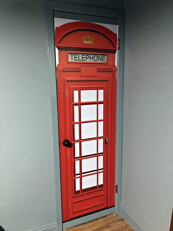 British Telephone Booth door