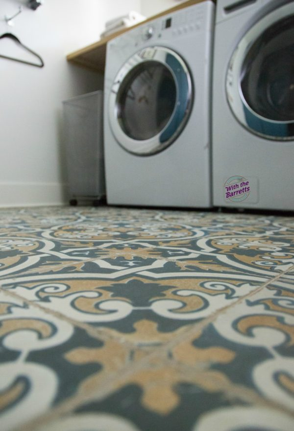 Tile Floor Laundry Room