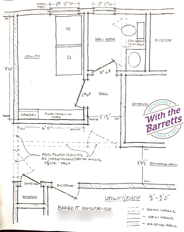 Original plan by Cowdin Construction