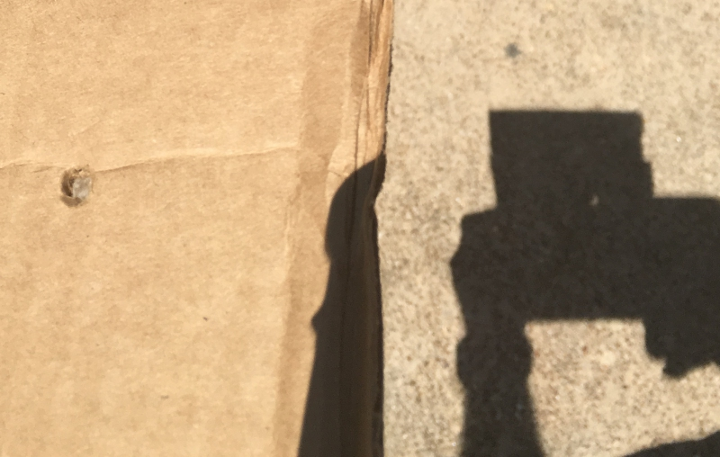 Cardboard and shadow