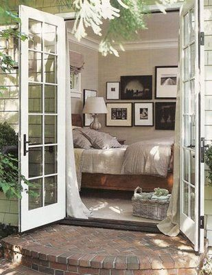 Lovely exterior into bedroom
