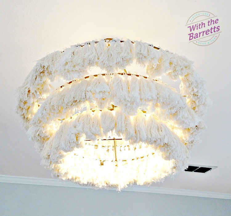 Fabric tassel chandelier