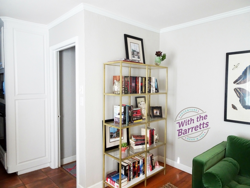 Painted IKEA Shelving
