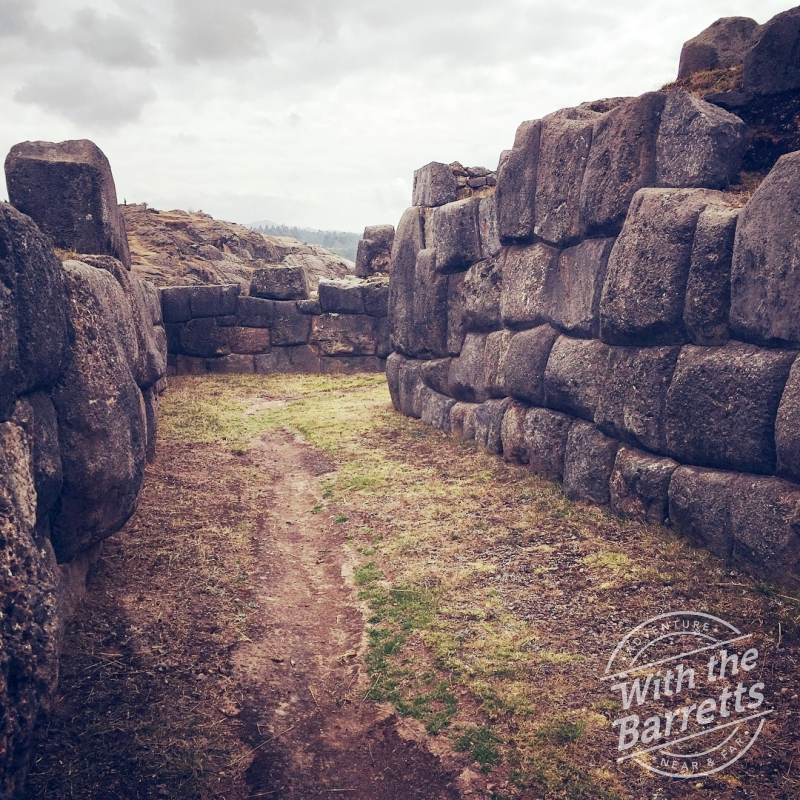 Path inside Sachsayhuaman, above Cusco