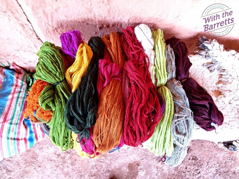 Various colored yarns