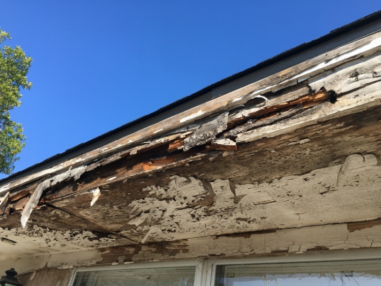 Rotted eave structure