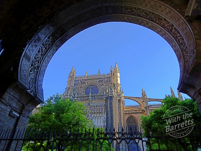 Cathedral through archway