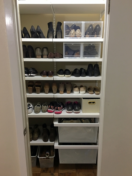 Full closet after