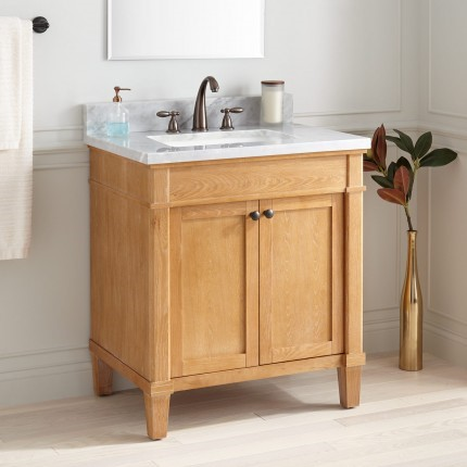 Wooden vanity from Signature Hardware