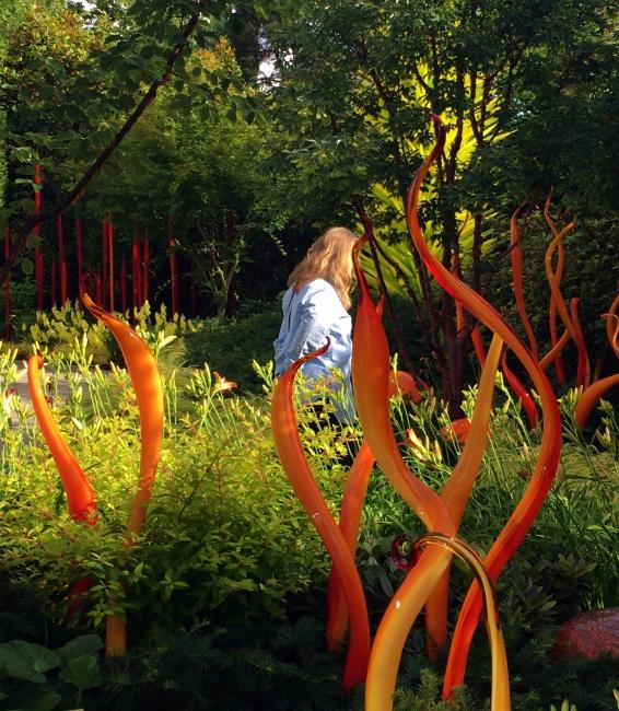 Debra in the gardens