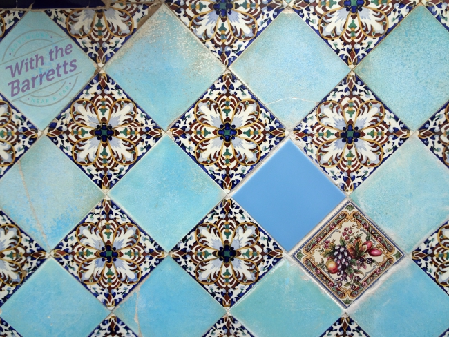 Blue tile repair