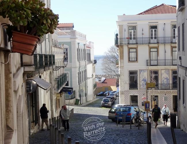 Tile work at Lisbon intersection