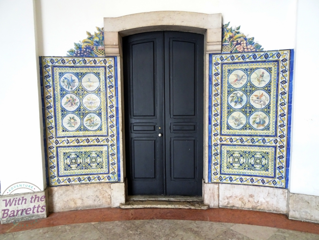 Tile flanking a doorway