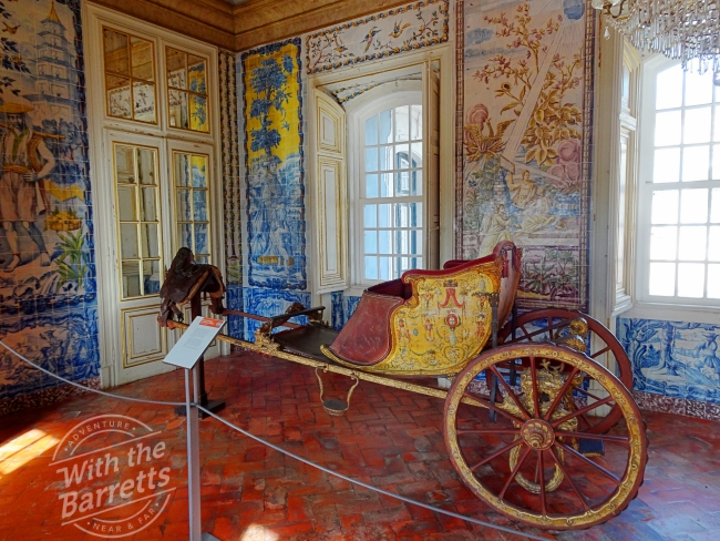 Interior at Queluz with carriage