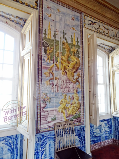 Interior tile panel at Queluz
