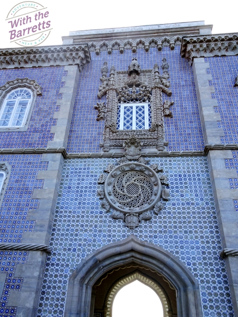 Blue tile exterior wall at Pena Palace