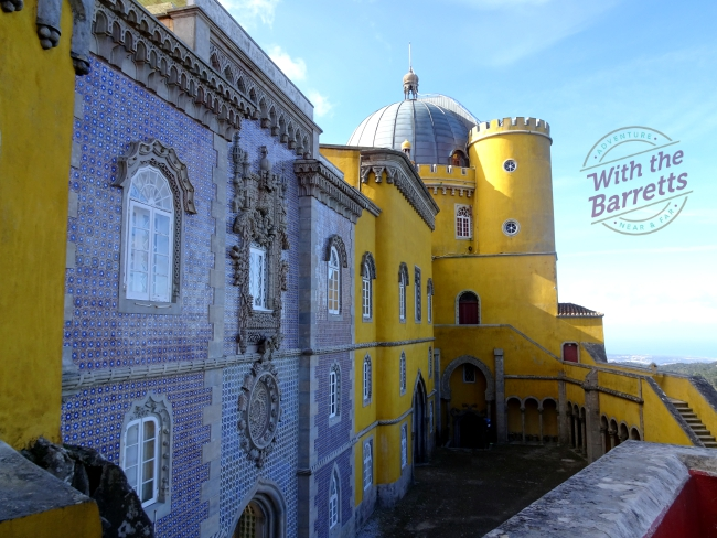 Second blue tile wall at Pena Palace
