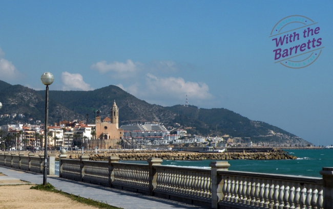 Sitges town view