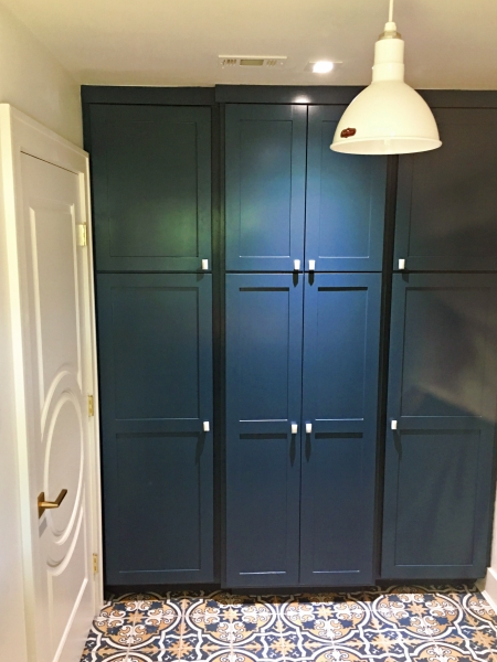 Built-in cabinets in new laundry