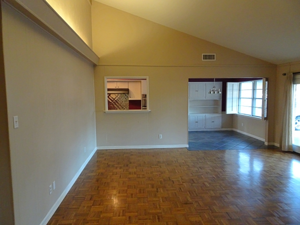 Living, dining, kitchen before