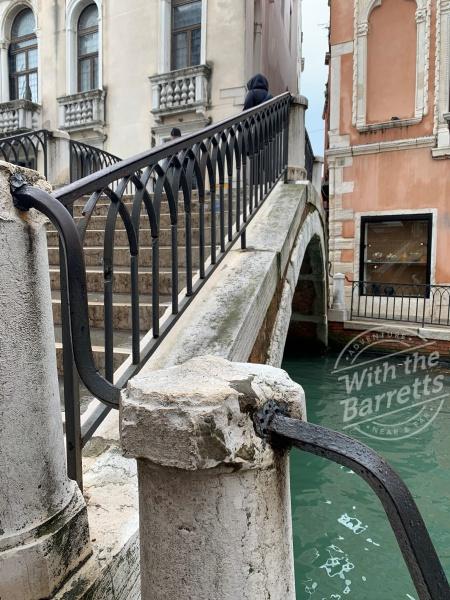 Bridge spanning a canal