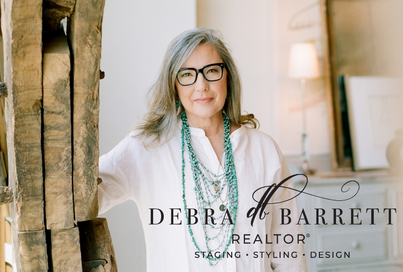 Picture of Debra with logo